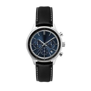 Ladies Watch Blue Sunray Dial Chronograph