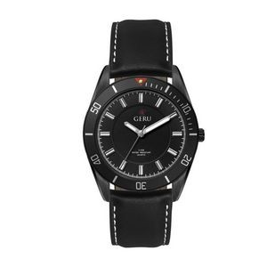 Ladies 34mm Metal Case Ladies 34mm Black Metal Case with Black Dial and turning bezel