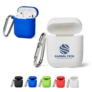 Silicone Earbud Case w/Carabiner Clip