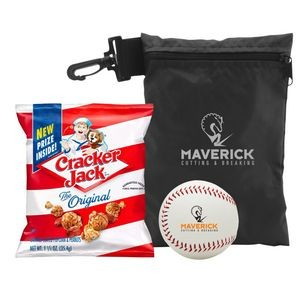 The Ball Game - Baseball w/Cracker Jacks in Bag