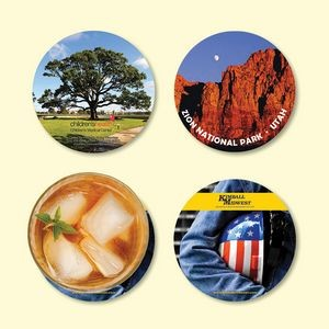 "Origin'L Fabric® 4""Round x1/8"" Antimicrobial Drink Coaster"