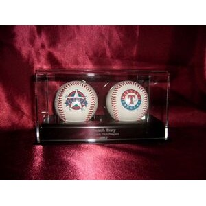 Baseball Display Case for 2 Baseballs